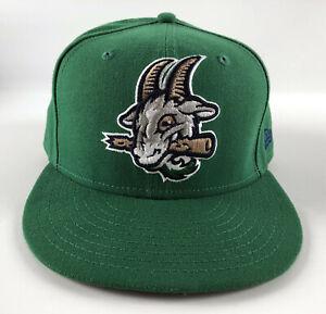 Hartford Yard Goats New Era 59Fifty Baseball Hat Green Size 7 1/2 - #36