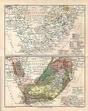 SÜDAFRIKA DSWA Kap Geologisch Geologie LANDKARTE  1906