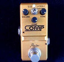 Rowin Nano Comp (compresor) Pedal de efectos de guitarra con verdadera by-pass-Tamaño Pequeño