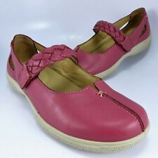 Hotter SHAKE Mary Janes Womens Size 7M-7.5M (UK 5) Pink Leather Made in England
