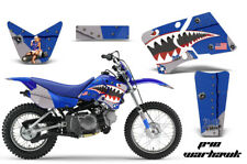 Dirt Bike Graphics Kit Decal Wrap For Yamaha TTR90 TTR90E 2000-2007 WARHAWK BLUE