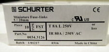 Schaerer Espresso Machines Electric Board Fuse T 8A L 250V (40 Pisces)