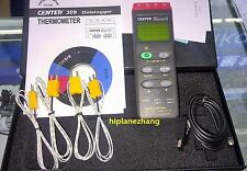 Four Input Channels K Type Thermometer 16K Records Data Logger RS232 Center 309
