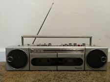 Vintage 80s Panasonic Boombox Rx-F33 Radio Dual Cassette *For Parts Or Repair*