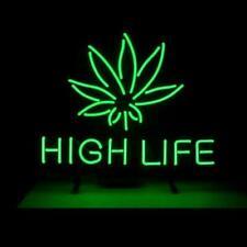 220041 Marijuana High Life Hemp Leaf herbal incense Drug Exhibit LED Light Sign