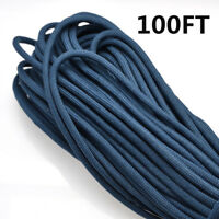 100FT Dark Blue Multi III Stand 7 Cores 550 Paracord Parachute Cord Lanyard #50