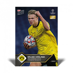 Erling Haaland UEFA Champions League Forward of the Season UCL TOPPS NOW Card 10