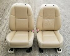 07-14 CADILLAC ESCALADE FRONT SEATS TAN HEATED LEATHER POWER OEM CHEVROLET GMC