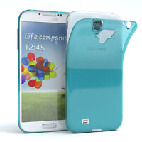 Ultra Slim Cover für Galaxy S4 Case Silikon Hülle Transparent Hellblau