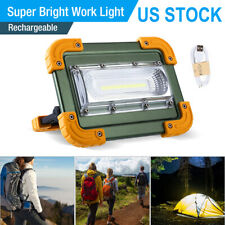 Cob Led Work Light Rechargeable Inspection Flashlight Flood Lamp Stand 100000lm
