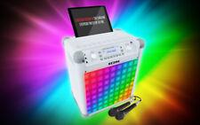 New listing Ion~Audio~Portable~Kara oke~Bluetooth~Speaker~w/ Effects & 2 Mic~White~Ipk3
