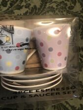 Fashion Espresso 4 Cup & Saucer Set Coffee Or Tea Designer