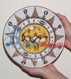 Top quality Algerian plate Handmade with ceramics and liquid 12 carat gold