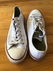 Converse All Star Chuck Taylor Shoes Size 10 US Men White Leather Unisex Women