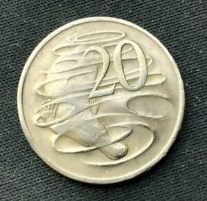 1970 Australia 20 Cents Coin XF    World Coin  Copper Nickel   #K1231