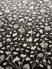 Schumacher Curtain Fabric 'Pennick Chintz' 2m Black 100%Cotton