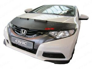 BONNET BRA fits HONDA CIVIC 9 2012-2015 WITH EMBROIDERED RED LOGO STONEGUARD