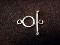 2 Sterling Silver Turkish Toggle Clasps 1759