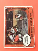 Gump Makes Important Saves 1961-62 Topps Hockey Card #65