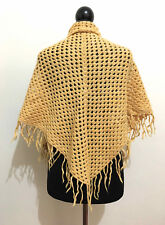 CULT VINTAGE '70 Scialle Stola Donna Lana Woman Hand Made Stole Shawl