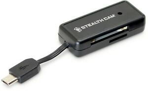 Stealth Cam STC-SDCRAND Memory Card Reader for Android Devices, Reads