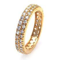 ST00512/925 STERLING SILVER ETERNITY WEDDING BAND /SZ 5 TO 9 / W/ DIAMONDS