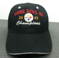 Pittsburgh Steelers NFL Super Bowl XL Champions Blk Strapback Adjustable Cap Hat