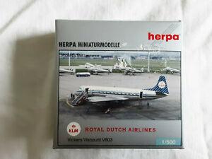 Herpa 1:500 Vickers Viscount V803 KLM Royal Dutch Airlines
