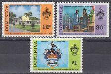 Dominica 1973 ** Mi.388/90 Universität University Wappen Crest [sq7157]