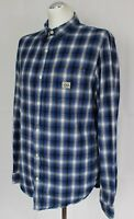 RALPH LAUREN Mens Blue Pattern Check Long Sleeve SHIRT - Size L - Large