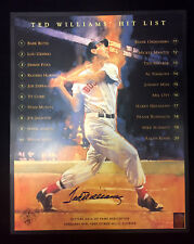 TED WILLIAMS BOSTON RED SOX AUTOGRAPHED SIGNED 16X20 PHOTO GREEN DIAMOND COA