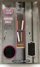 Locker Lounge Slim Profile Locker Hanging Shelf- Black NIB