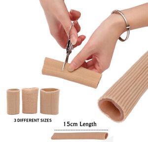 Fabric Gel Tube Bandage Toe Foot Finger Feet Protectors Pain Relief Protector UK