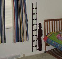 Fireman Growth Chart Wall Decal removable wall sticker boys room nursery kids