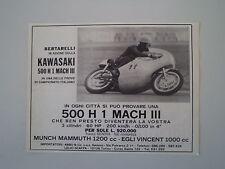 advertising Pubblicità 1970 MOTO KAWASAKI 500 H1 MACH III