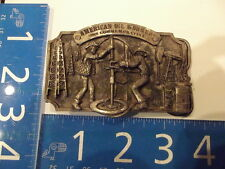 Vintage Belt Buckle American Oil Worker Commemorative Limited Edition 1982