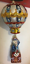 New ListingRare Christopher Radko Glory Abounds Uncle Sam Hot Air Balloon Ornament 4th July