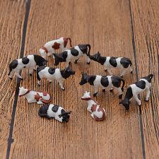 10pcs Coloré Peint Vache Cow Modèle 1:87 Échelle Animal Figurine Jouet Aléatoire