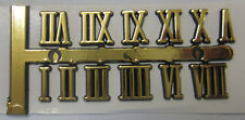 Adhesive Gold Index Numbers Roman Numerals 10mm BNIP For Clock Making