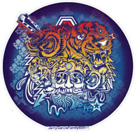 Grateful Dead Jerry Garcia Tigers - Window Sticker / Decal