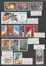 USSR 1981 ... SPACE / ESPACE / КОСМОС / ESPACIO ... Lot of  MNH Stamps **