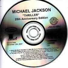 MICHAEL JACKSON Thriller 25th Anniversary 2007 US numbered 16-track promo CD