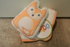 CIRCO Target Fox Baby Infant Washcloths & Plush Sponge Set - orange and white