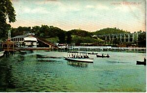 Early 1900's The Lagoon Park in Ludlow, KY Kentucky PC