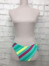 Womens MONSOON Turquoise Striped Bikini Bottoms Briefs Size 10