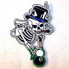 POOL SHOOTER EMB PATCH 357 skeleton billiards patches billiard game jacket iron