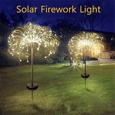 New listing Solar Powered Outdoor Grass Globe Dandelion Fireworks Lamp For Garden