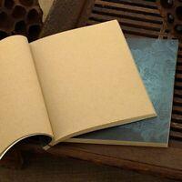stil handarbeit. leere seite draht gebundenen notizbuch kraftpapier skizzen
