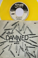 "THE DAMNED - Don't Cry Wolf/One Way Love - Stiff 7"" - 1977 YELLOW VINYL/Belgium"