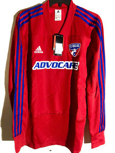 Adidas MLS Long Sleeve Jersey Dallas FC Team Red sz M